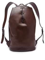 Berluti Lace Up Leather Backpack Brown