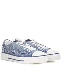 Valentino Garavani Denim Sneakers Blue
