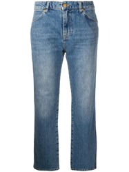 Victoria Beckham Cali Cropped Jeans Blue