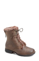 Born Women's Born 'Retta' Genuine Shearling Lined Boot Summer Brown Leather Shearling