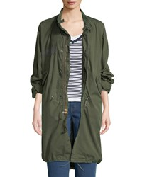 Elizabeth And James Vintage One Of A Kind Fishtail Parka Jacket Green