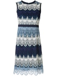 Loveless Short Crochet Dress Blue