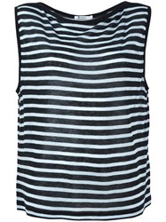 T By Alexander Wang Striped Tank Top Green
