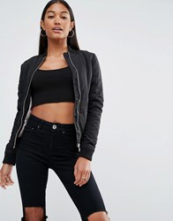 Lipsy Bomber Jacket Black
