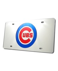 Rico Industries Chicago Cubs License Plate Silver