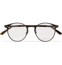 Bottega Veneta Round Frame Metal And Tortoiseshell Acetate Optical Glasses Tortoiseshell