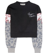 Etre Cecile Printed Cotton Sweatshirt Black
