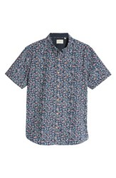 7 Diamonds Memories Slim Fit Short Sleeve Sport Shirt Navy