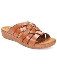 Bare Traps Jaydin Flat Sandals Women's Shoes Brushed Brown