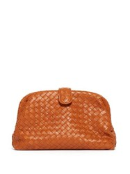 Bottega Veneta The Lauren 1980 Leather Clutch Orange