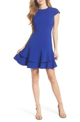 Eliza J Stretch Crepe Sheath Dress Cobalt