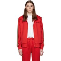 Burberry Red Icon Stripe Silas Track Jacket