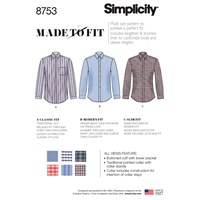 Simplicity Made To Fit 'S Shirts Sewing Pattern 8753 Bb