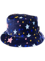 Boutique Moschino Star Print Hat Blue