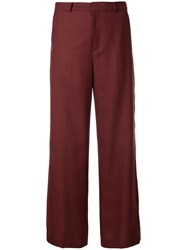 Loveless High Waist Wide Leg Trousers Red