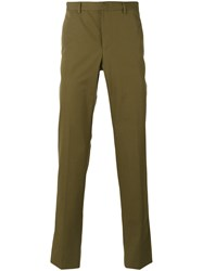 Givenchy Straight Leg Trousers Men Cotton 50 Green