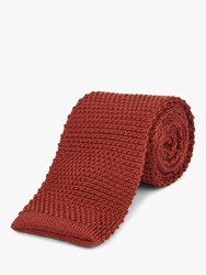Jaeger Knitted Wool Silk Tie Red