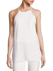 Halston Solid Strappy Tank Top Chalk