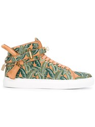 Buscemi Printed Hi Top Sneakers Nude Neutrals