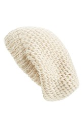 Sole Society Shimmer Knit Slouchy Beanie