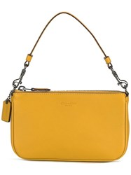 Coach Top Handle Mini Tote Yellow Orange