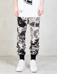 Ktz Newspaper Print Harem Pants