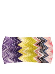 Missoni Mare Zigzag Knit Headband Pink Multi