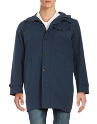 Brooks Brothers Front Zip Anorack Jacket Blue