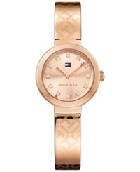 Tommy Hilfiger Women's Sophisticated Sport Rose Gold Tone Stainless Steel Bangle Bracelet Watch 28Mm 1781715