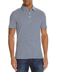 Psycho Bunny Striped Regular Fit Polo Shirt Baltic