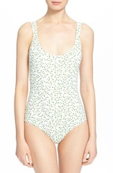 Women's Tomas Maier 'Palm Burst' Print One Piece Swimsuit