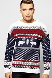 Boohoo Fairisle Christmas Jumper Navy