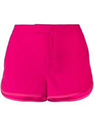 Red Valentino Track Style Tailored Shorts Pink And Purple