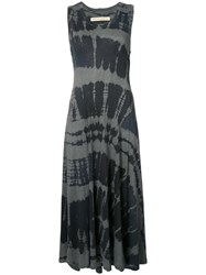 Raquel Allegra Tie Dye Tank Dress Women Cotton Polyester 0 Black