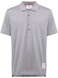Thom Browne Button Polo Shirt Grey