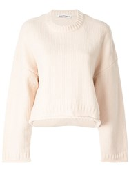 Alexander Wang T By Oversized Cropped Jumper Brown