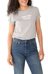 Ban.Do Ban. Do You're Cute Text Me Classic Tee Heather Grey