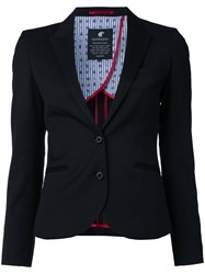 Loveless Fitted Blazer Women Polyester Polyurethane Rayon 7 Black