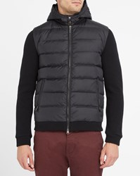 Woolrich Black Dual Fabric Wool And Down Hooded Jacket