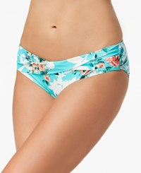 Coco Reef Printed Banded Bikini Bottoms Swimsuit Larimar Aqua