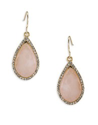 Carolee Garden Party Quartz Drop Pierced Earrings Gold
