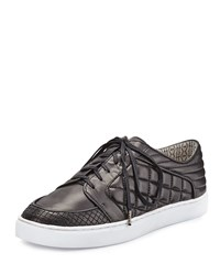 Matt Bernson Ambrose Quilted Leather Sneaker Black Quilted Black