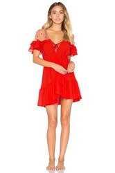 For Love And Lemons Little Rosette Robe Red