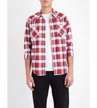 Levi's Barstow Cotton Shirt Suona Cherry Bomb