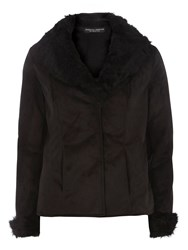 Dorothy Perkins Faux Fur Shearling Jacket Black