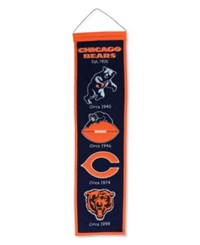 Winning Streak Chicago Bears Heritage Banner Team Color