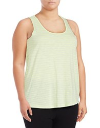 Marc New York Striped Crisscross Active Tank Top Sweet Pea