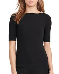 Ralph Lauren Boat Neck Tee Polo Black
