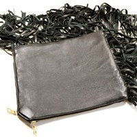 Rorin Fringed Fin Clutch Brass Hardware