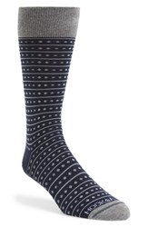 Men's Hook Albert Dot And Stripe Socks Blue